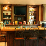 Custom Bar Cabinetry (Northwoods)