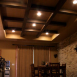 Coffered Ceilings in Dining Area (Newton Le Stone)