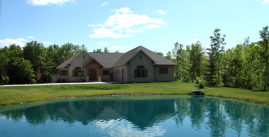 Exterior with Pond (Northwoods)