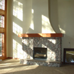 Great Room Fireplace (Post Lake)