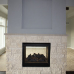 Kitchen Side of 2-way Fireplace (Rose Meadow)