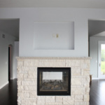 Living Room Side of 2-way Fireplace (Rose Meadow)
