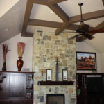Living Room's Full Height Fireplace (Waterstone)