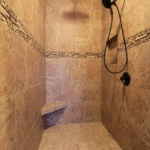 Master Bathroom Walk-in Shower (Scotch Pine)