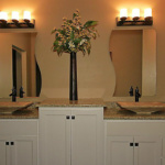 Dual Vanities in Master Bathroom (Scotch Pine)